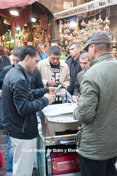 Puesto de fotocopias en el Gran Bazar de Estambul
