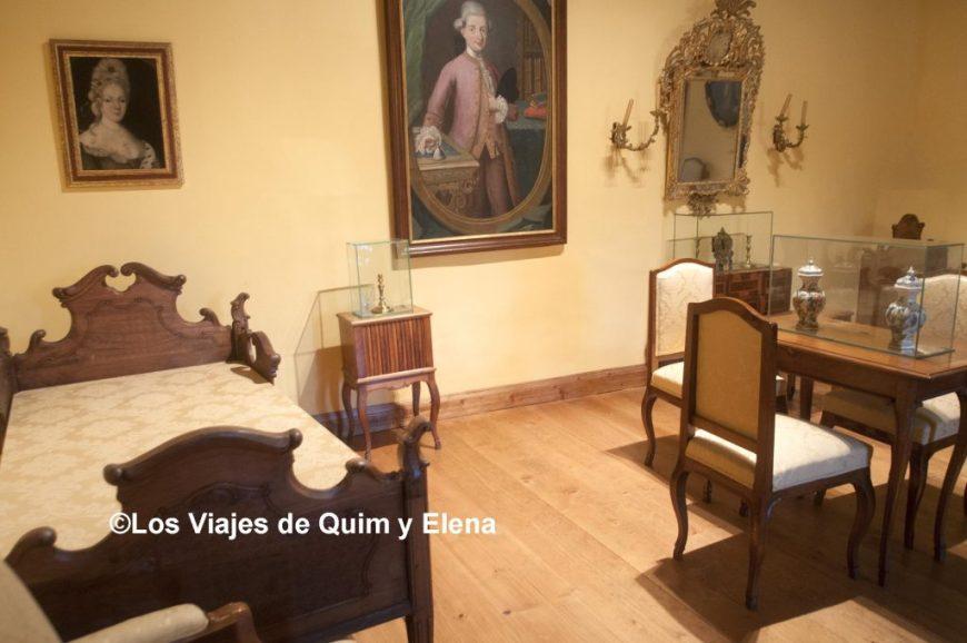 Dormitorio del castillo, ruta de los castillos