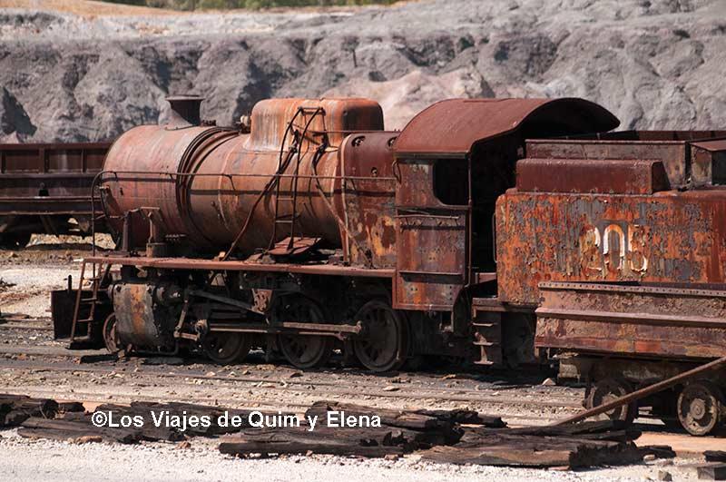 Tren abandonado en las Minas de río Tinto