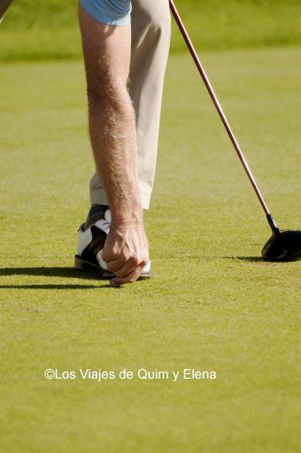 Golfista en el Old Course