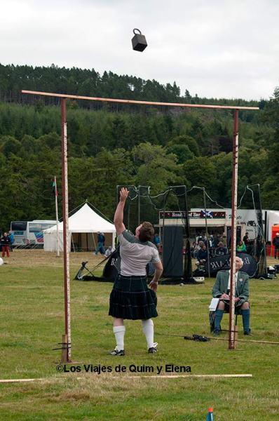 Lanzamiento de peso en los Highland Games