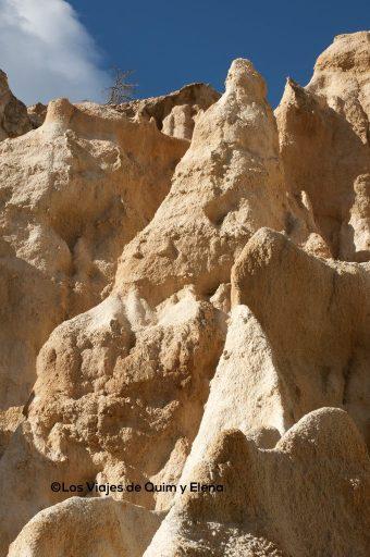 La erosión moldea el lugar