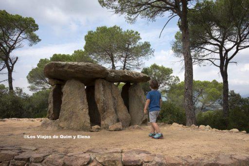 Éric en el Dolmen de Pedra Gentil