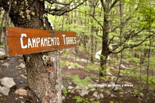 Camino al Campamento Torres en el Parque Nacional Torres del Paine