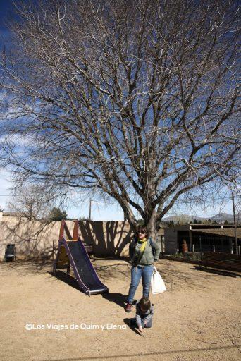Jugando en el parque de Palau Sator