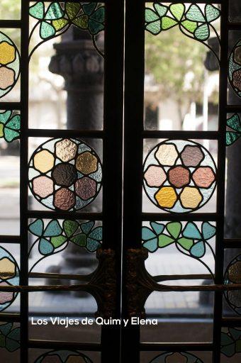 Detalle de una vidriera