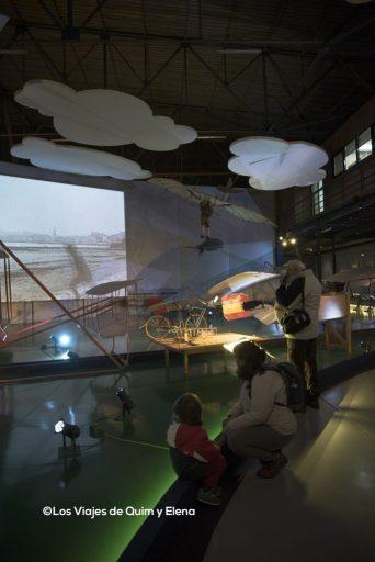 La zona nueva del museo de la aeronáutica