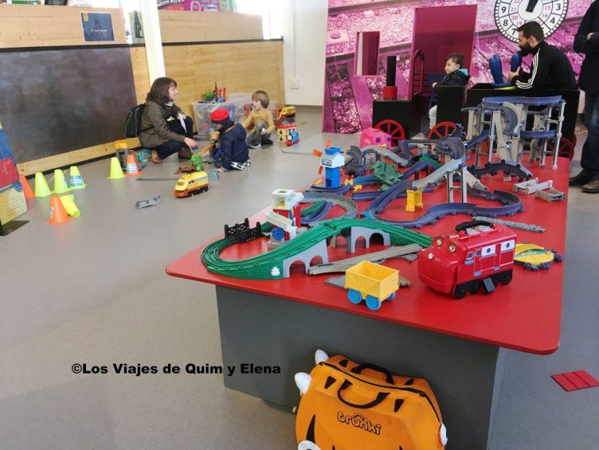 Zona de juegos del Museo del Ferrocarril