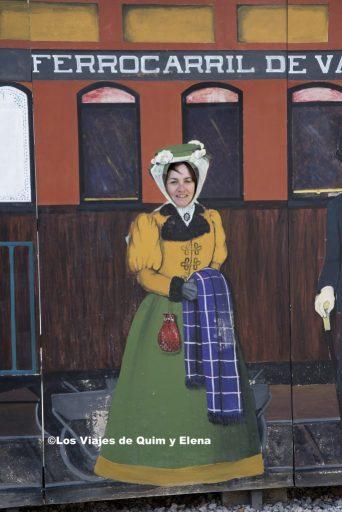 Elena preparada para subir al tren