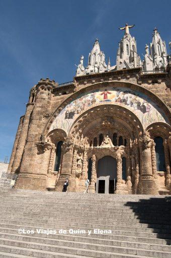 Entrada a la Basílica en la montaña del Tibidabo