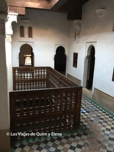 Interior de la Madraza al visitar Marrahech