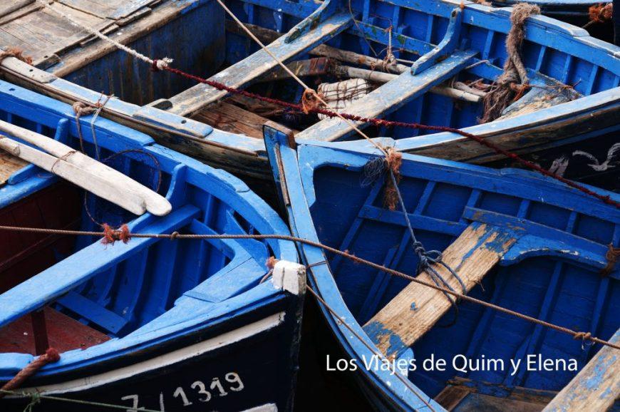 Barcas en el puerto de Essaouira