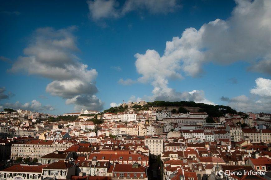 Panorámica de Lisboa desde el mirador de Santa Justa