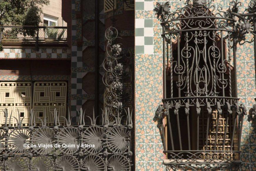 Parte de la fachada y de la reja