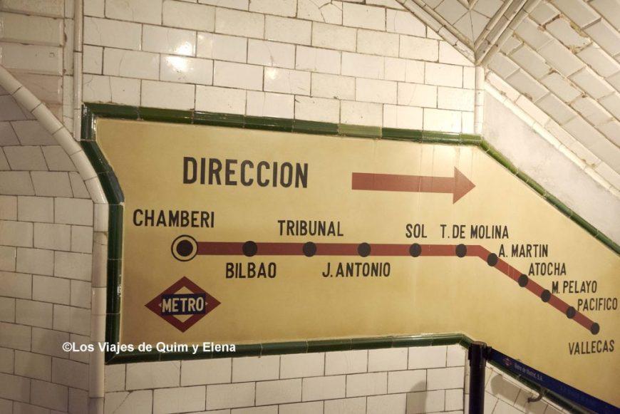 Información de la línea de metro