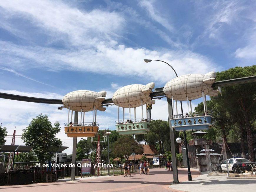 El Zeppelin del Parque de Atracciones de Madrid