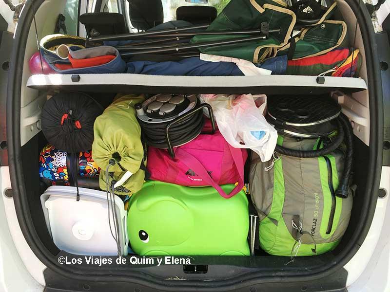 Todo listo para irnos del camping
