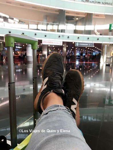 Elena y sus pies en El Prat