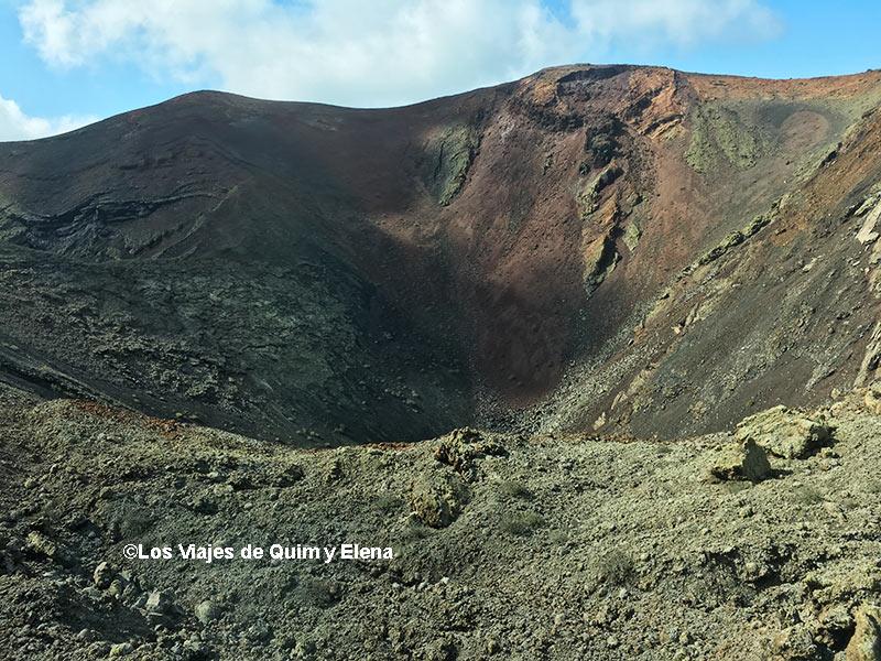 Crater de un volcán