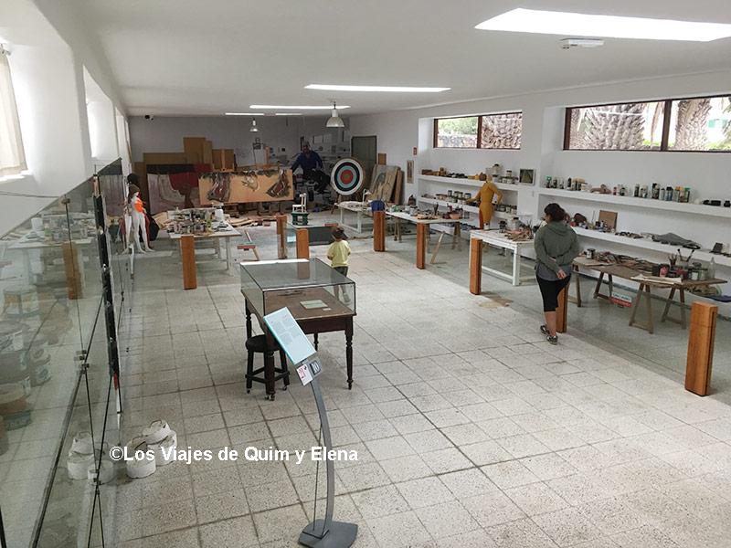 Interior del taller de César Manrique