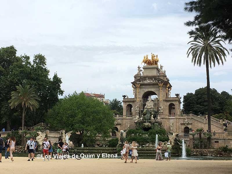 La cascada del Parque de la Ciutadella