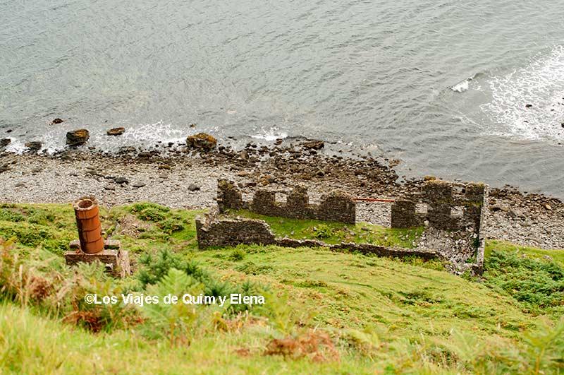 Restos de la mina de diatomita en la Isla de Skye