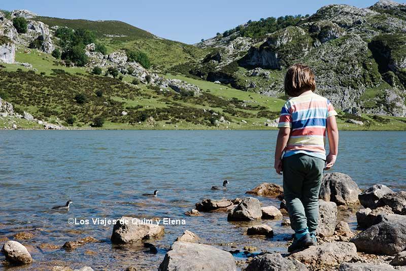 Éric en los Lagos de Covadonga