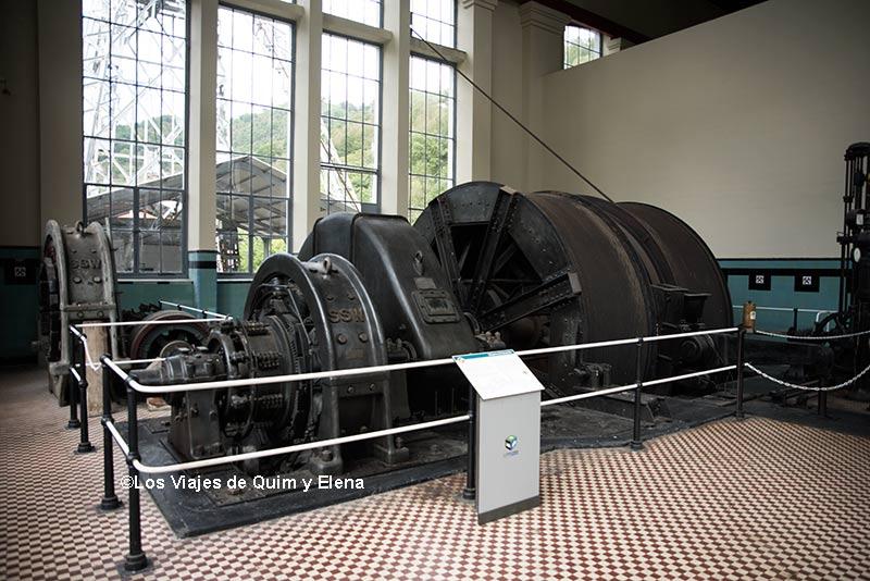 Máquina de extracción en el Museo Minero