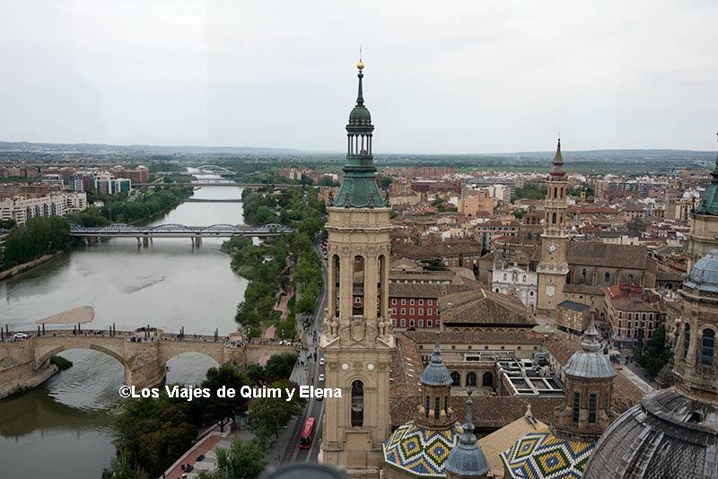Vistas desde la Torre del Pilar, escapada a Zaragoza