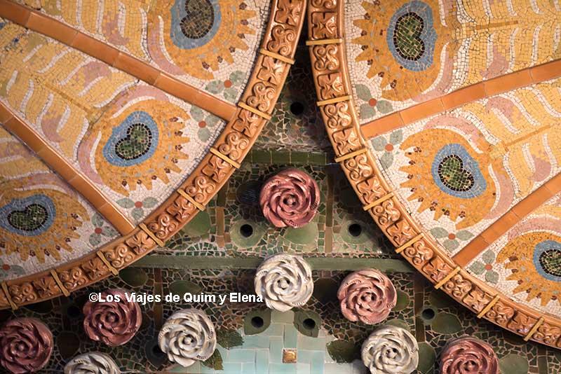 Detalles del techo del Palau de la Música