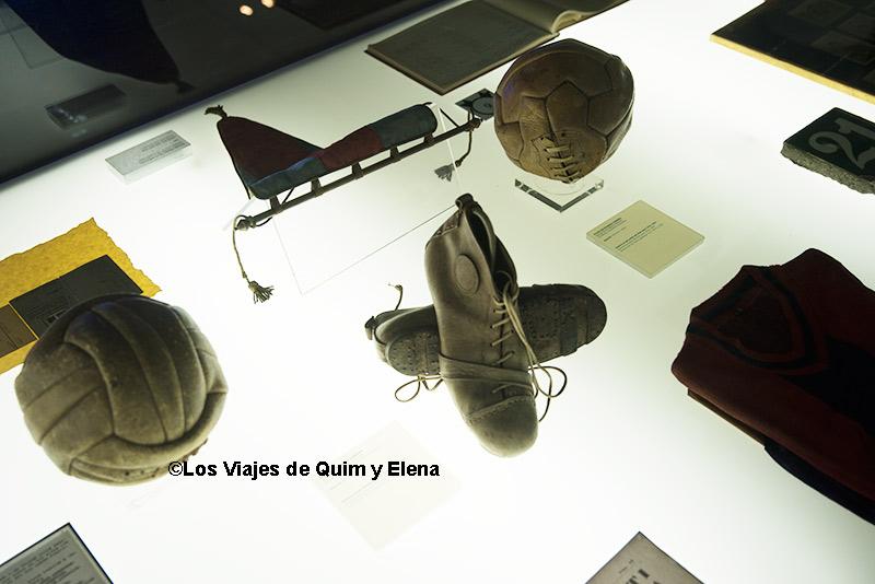 Objetos históricos en el Museo