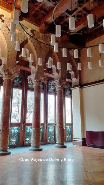 Gran Salón del Palacio BArón de Quadras