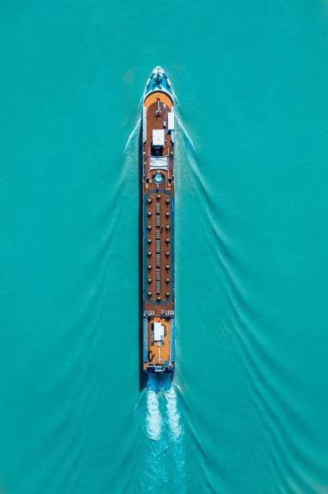 Vista aérea de un crucero