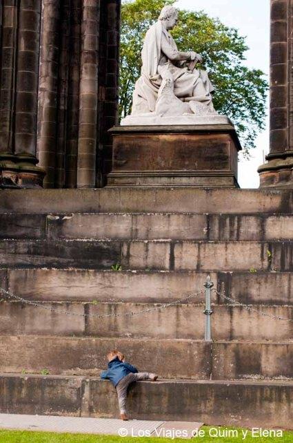 Monumento a Scott, ruta en coche por Escocia