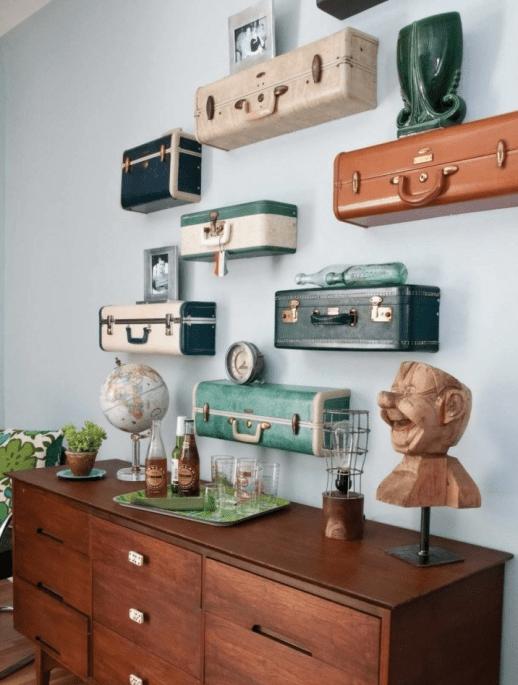 Ideas para decorar la casa con maletas