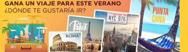 Sorteo de un viaje gratis a París, Punta Cana...