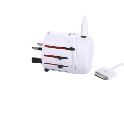 Adapter podróżny Skross z ładowarką USB