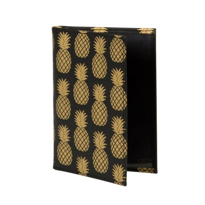 Etui na paszport i karty Gold Pineapple