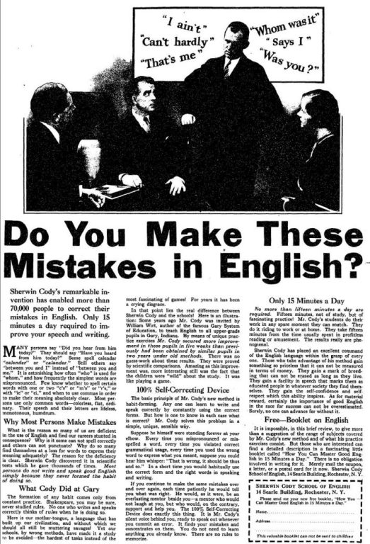 do you make these mistakes in english