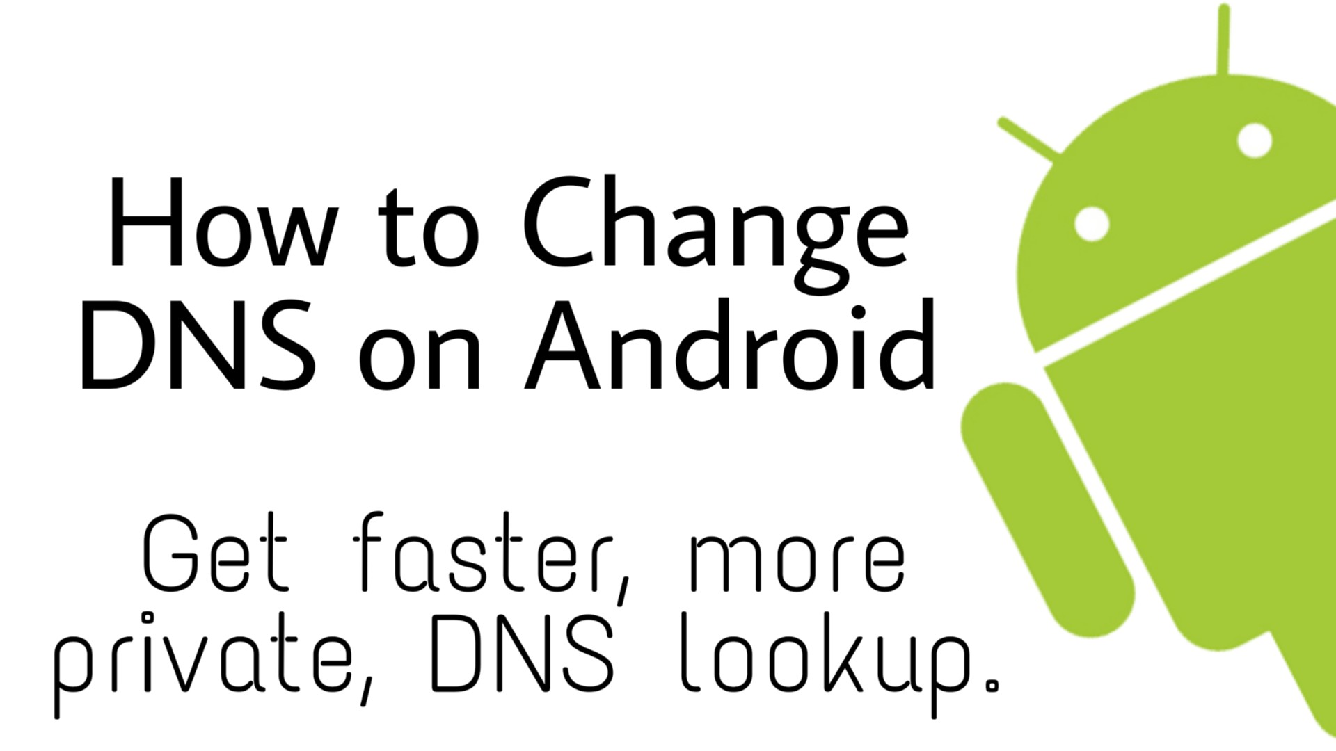 change DNS on android