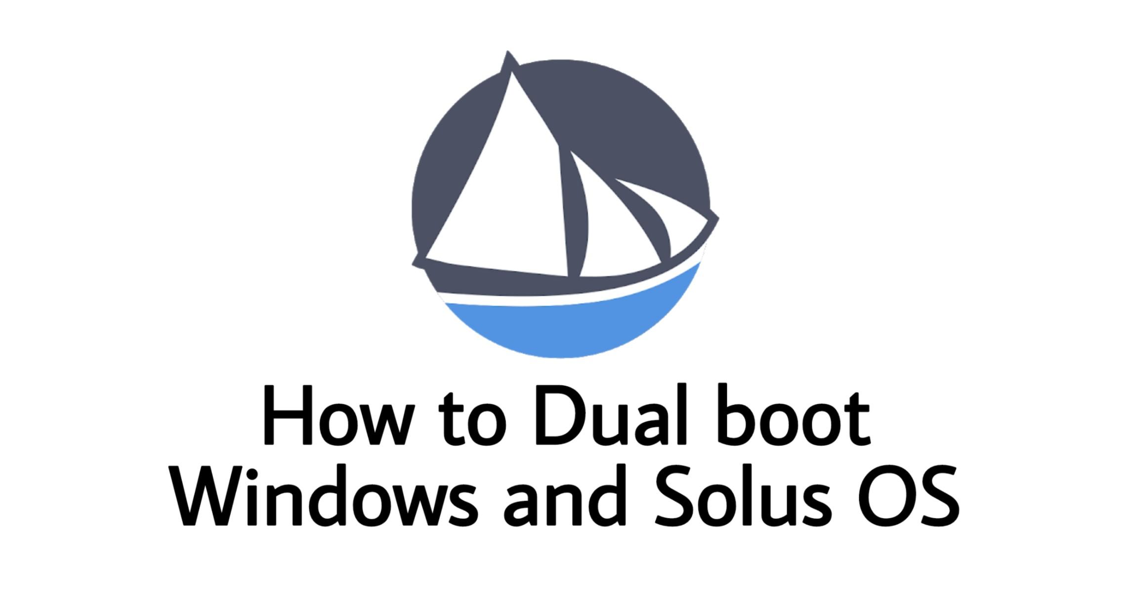 Install Solus OS alongside Windwos