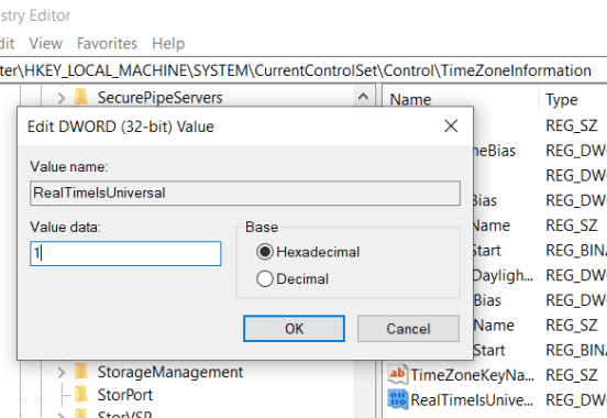 Fix time difference in Windows and Linux in dual boot system