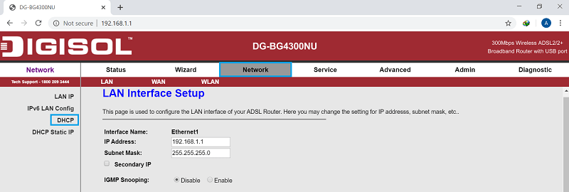 convert a ADSL modem into router