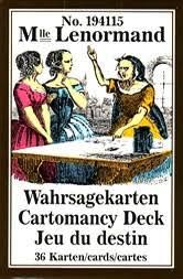 № 194115 Mlle Lenormand Wahrsagekarten Cartomancy Deck Jeu du destin /Piatnik/
