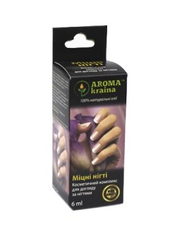 Комплекс Крепкие ногти 6мл масляный Арома краина