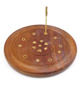 Подставка -тарелка из дерева под благовония 070