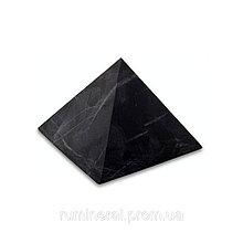 Шунгит пирамида неполированная 3х3 0180