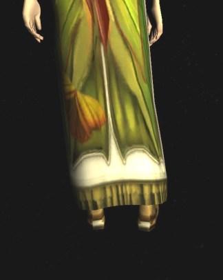Short-sleeved Dress of the Moth - back, bottom close up