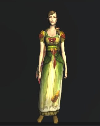 Short-sleeved Dress of the Moth - front