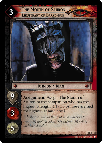Lotr Tcg Wiki The Mouth Of Sauron Lieutenant Of Barad